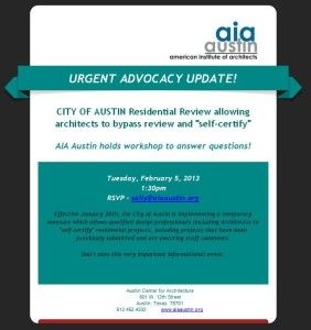 AIAAustin Self Certification